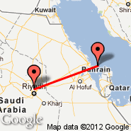 Riyadh (King Khaled Intl, RUH) - Bahrain (Bahrain International, BAH)