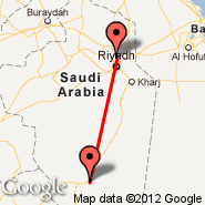 Riyadh (King Khaled Intl, RUH) - Sulayel (Sulayel, SLF)