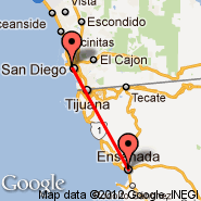 San Diego (San Diego International Airport, SAN) - Ensenada (General Alberto L. Salinas C. International Airport, ESE)