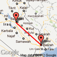 Bagdad (Baghdad International, SDA) - Basra (International, BSR)