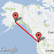Seattle (Seattle-Tacoma International, SEA) - Anchorage (Ted Stevens Anchorage International Airport, ANC)