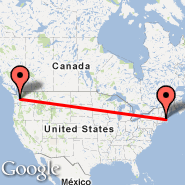 Seattle (Seattle-Tacoma International, SEA) - Boston (Logan International, BOS)