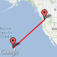Seattle (Seattle-Tacoma International, SEA) - Honolulu (Hickam AFB, HIK)