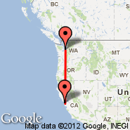 Seattle (Seattle-Tacoma International, SEA) - San Francisco (San Francisco International, SFO)