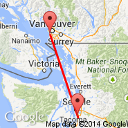 Seattle (Seattle-Tacoma International, SEA) - Vancouver (Vancouver Intl, YVR)