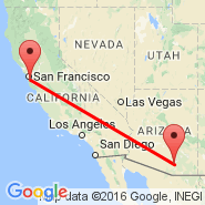 San Francisco (San Francisco International, SFO) - Tucson (Tucson International Airport, TUS)