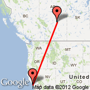 San Francisco (San Francisco International, SFO) - Edmonton (Edmonton International, YEG)