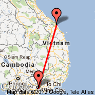 Ho Chi Minh City (Tan Son Nhat International, SGN) - Da Nang (Da Nang International Airport, DAD)