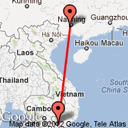 Ho Chi Minh City (Tan Son Nhat International, SGN) - Nanning (Wuxu International Airport, NNG)