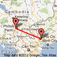 Ho Chi Minh City (Tan Son Nhat International, SGN) - Phnom Penh (Phnom Penh International, PNH)