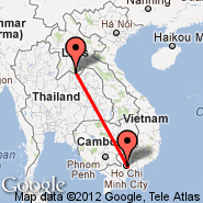 Ho Chi Minh City (Tan Son Nhat International, SGN) - Vientiane (Wattay, VTE)