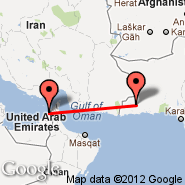 Sharjah (Sharjah International Airport, SHJ) - Turbat (Turbat International Airport, TUK)