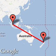 Singapur (Changi, SIN) - Auckland (Auckland International, AKL)