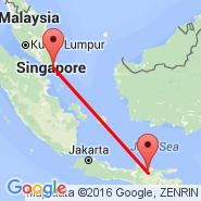 Singapore (Changi, SIN) - Cepu (CPF)