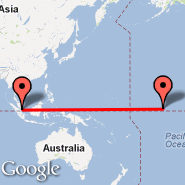 Singapur (Changi, SIN) - Christmas Island (Cassidy International Airport, CXI)
