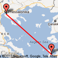 Thessaloniki (Macedonia International, SKG) - Chios Island (Chios, JKH)
