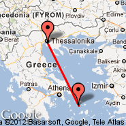 Thessaloniki (Macedonia International, SKG) - Syros Island (JSY)