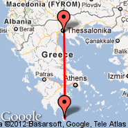 Thessaloniki (Macedonia International, SKG) - Kythira Island (Kithira, KIT)