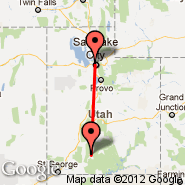 Salt Lake City (Salt Lake City International, SLC) - Bryce Canyon (Bryce, BCE)
