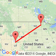 Salt Lake City (Salt Lake City International, SLC) - Grand Forks (Grand Forks International Airport, GFK)