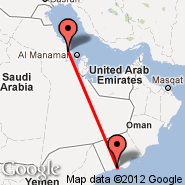 Salalah (Salalah International Airport, SLL) - Dammam (King Fahd International Airport, DMM)