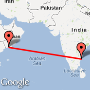 Salalah (Salalah International Airport, SLL) - Chennai/Madras (Madras International, MAA)