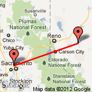 Sacramento (Sacramento International, SMF) - Fallon (Municipal, FLX)