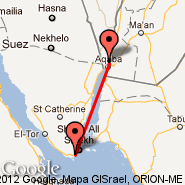 Sharm el-Sheikh (Ophira International, SSH) - Aqaba (King Hussein Intl, AQJ)