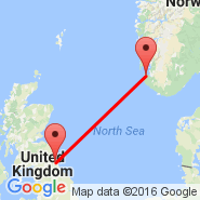 Stavanger (Sola, SVG) - Newcastle (Newcastle Airport, NCL)