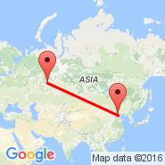 Ekaterinburg (Koltsovo International Airport, SVX) - Peking (Beijing Capital Int., PEK)
