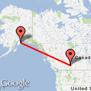 Seward (SWD) - Calgary (Calgary International Airport, YYC)