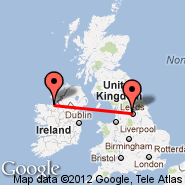 Sligo (Collooney, SXL) - Leeds/Bradford (Leeds Bradford International Airport, LBA)