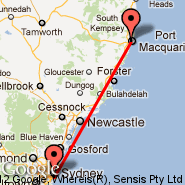 Sydney (Kingsford Smith, SYD) - Port MacQuarie (PQQ)