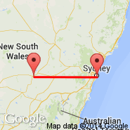 Sydney (Kingsford Smith, SYD) - West Wyalong (WWY)