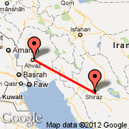 Shiraz (International (Shahid Dastghaib International), SYZ) - Ahwaz (AWZ)