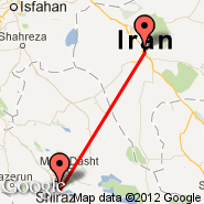 Shiraz (International (Shahid Dastghaib International), SYZ) - Yazd (Shahid Sadooghi, AZD)