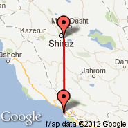 Shiraz (International (Shahid Dastghaib International), SYZ) - Assaluyeh (Persian Gulf International, YEH)