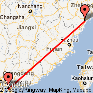 Shenzhen (SZX) - Wenzhou (Wenzhou International Airport, WNZ)