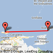 Tobago (Crown Point Airport, TAB) - Isla Margarita (Del Caribe International, PMV)
