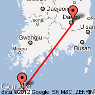 Daegu (Daegu International Airport, TAE) - Jeju City (Jeju Airport, CJU)