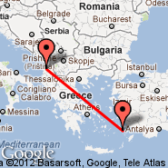 Tirana (Rinas Mother Teresa, TIA) - Kos Island (Kos Island International Airport, KGS)