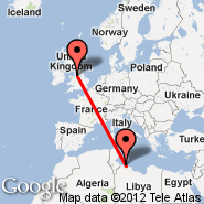 Tripoli (International, TIP) - Manchester (Ringway International Airport, MAN)