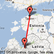 Tallinn (Ulemiste, TLL) - Riga (Riga International, RIX)