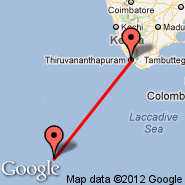 Thiruvananthapuram (Thiruvananthapuram International, TRV) - Male (Male International, MLE)