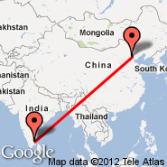 Tiruchirapalli (Civil, TRZ) - Peking (Beijing Capital Int., PEK)