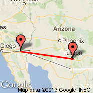 Tucson (Tucson International Airport, TUS) - Calexico (International, CXL)