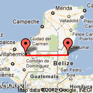 Belize City (Municipal, TZA) - Palenque (Palenque International Airport, PQM)