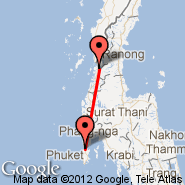 Ranong (UNN) - Phuket (Phuket International, HKT)