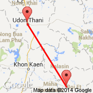Udon Thani (Udon Thani International Airport, UTH) - Roi Et (Roi Et Airport, ROI)