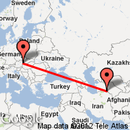 Vienna (Schwechat International, VIE) - Ashgabat (ASB)